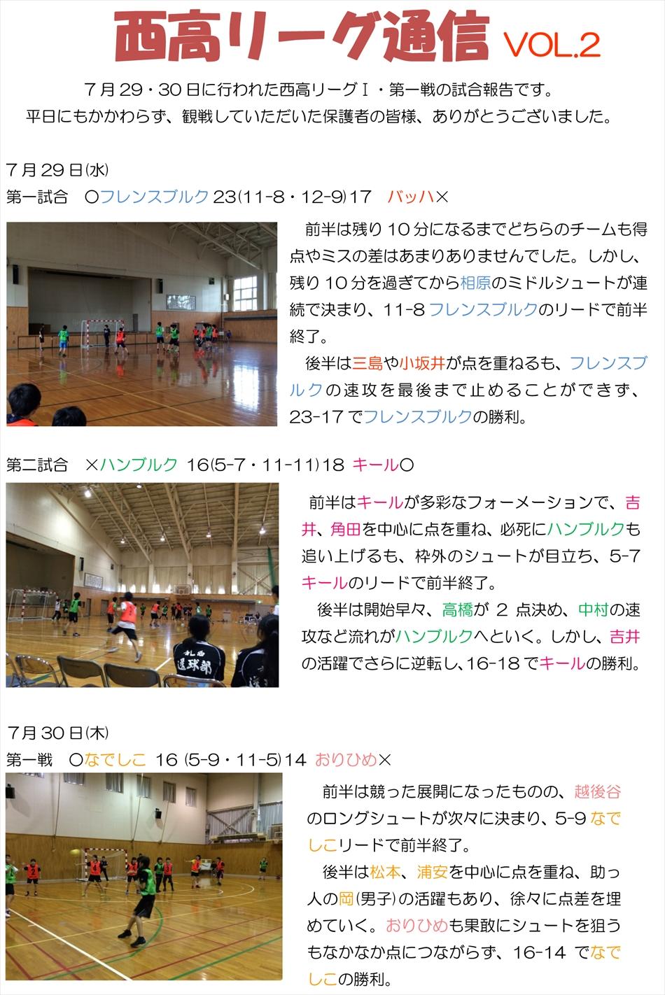 西高リーグ通信vol-2